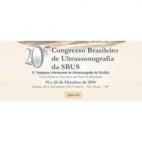 Logo 20º Congresso Brasileiro de Ultrassonografia da SBUS