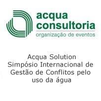 Logo Acqua Solution – Simpósio Internacional de Gestão de Conflitos pelo uso da água