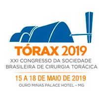 Logo TÓRAX 2019 - XXI Congresso da Sociedade Brasileira de Cirurgia Torácica
